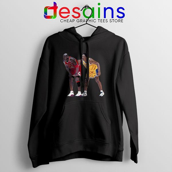 Kobe Jordan Real GOAT Black Hoodie NBA Legend