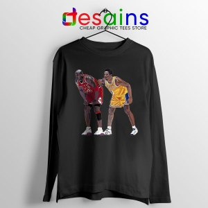 Kobe Jordan Real GOAT Black Long Sleeve Tee NBA Legend