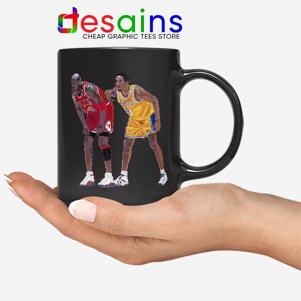 Kobe Jordan Real GOAT Black Mug NBA Legend