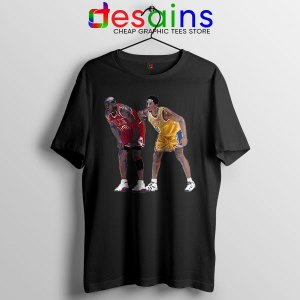 Kobe Jordan Real GOAT Black T Shirt NBA Legend