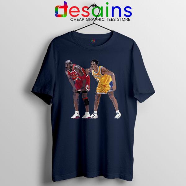 Kobe Jordan Real GOAT Navy T Shirt NBA Legend