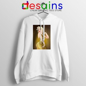 Marilyn Monroe Gold Smile White Hoodie Sexy Actress