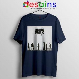 Minutes to Midnight Cover Art Navy T Shirt Linkin Park