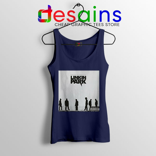 Minutes to Midnight Cover Art Navy Tank Top Linkin Park