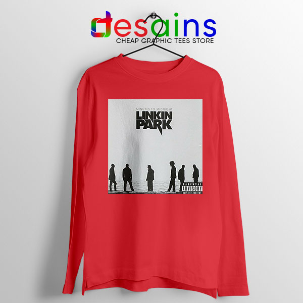 Minutes to Midnight Cover Art Red Long Sleeve Tee Linkin Park
