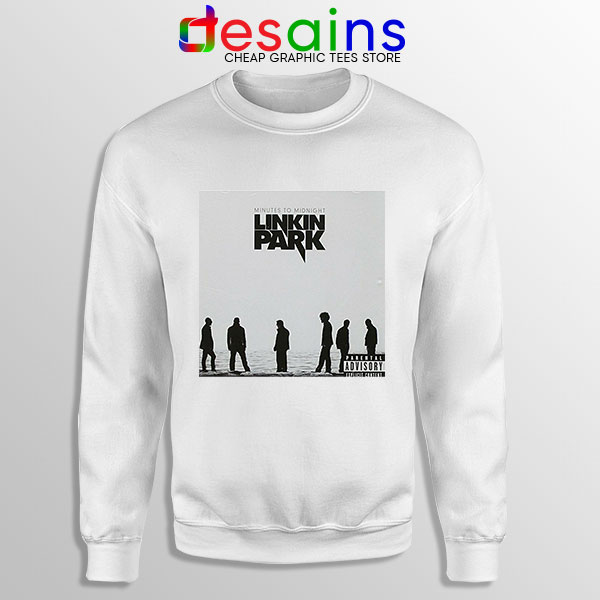 Minutes to Midnight Cover Art White Sweatshirt Linkin Park