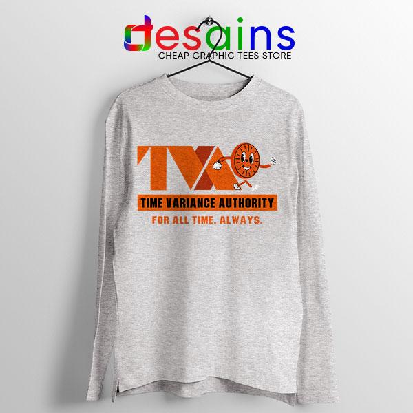 Miss Minutes TVA Loki Sport Grey Long Sleeve Tee Marvel Merch