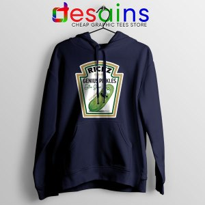 Pickle Rick Heinz logo Navy Hoodie Rick and Morty