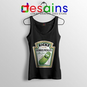 Pickle Rick Heinz logo Tank Top Rick and Morty