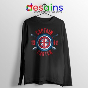 Shield Captain Carter Black Long Sleeve Tee What If Series