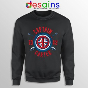 Shield Captain Carter Black Sweatshirt What If Series