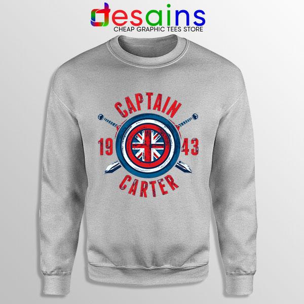 Shield Captain Carter Sport Grey Sweatshirt What If Series