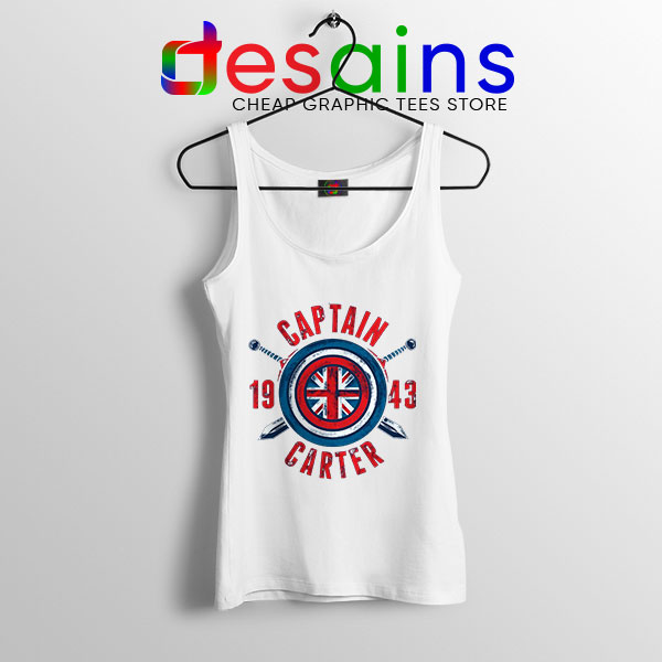 Shield Captain Carter WHite Tank Top What If Series
