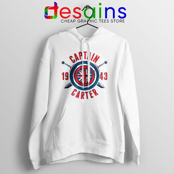Shield Captain Carter White Hoodie What If Series