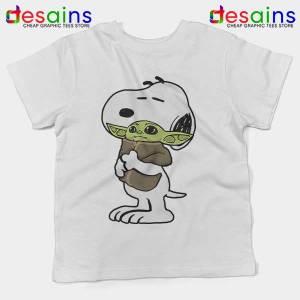 Snoopy Baby Yoda Friends Kids Tee The Mandalorian