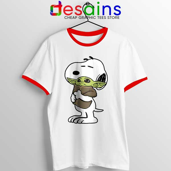 Snoopy Baby Yoda Friends Red Ringer Tee The Mandalorian