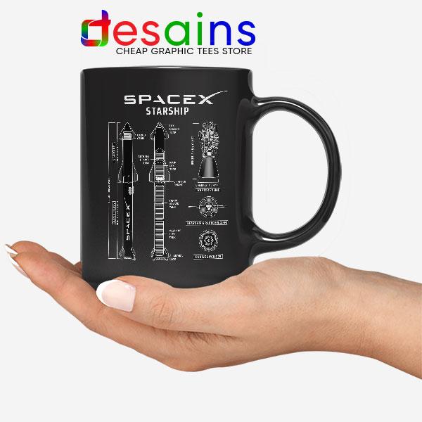 Spacex Starship Prototype Mug Elon Musk