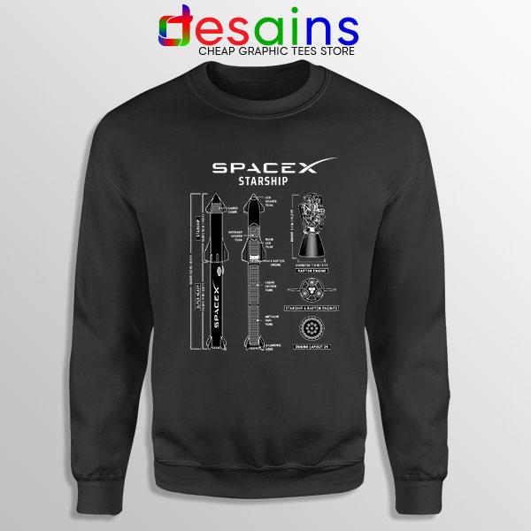 Spacex Starship Prototype Sweatshirt Elon Musk