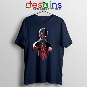 Spider Man Into Multiverse Navy T Shirt Marvel Comics