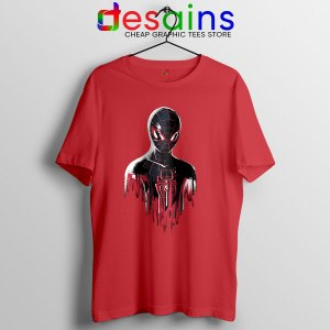 Spider Man Into Multiverse Red T Shirt Marvel Comics