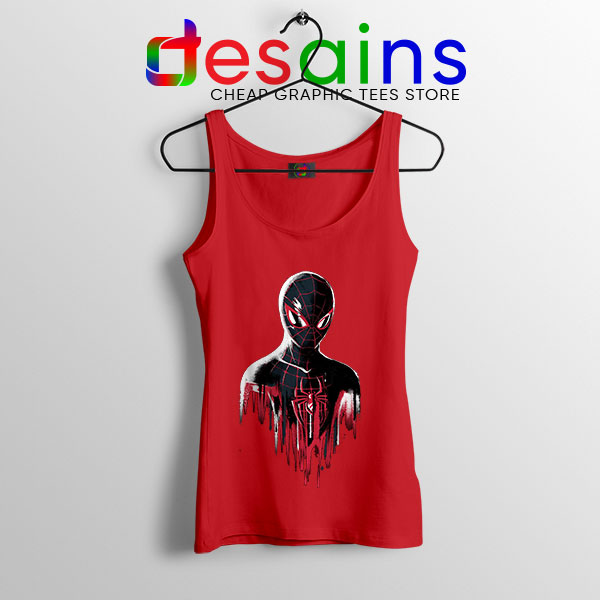 Spider Man Into Multiverse Red Tank Top Marvel Comics