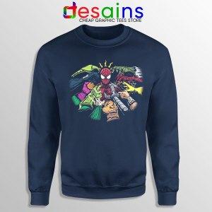 Spider Man Multiverse Vilains Navy Sweatshirt No Way Home