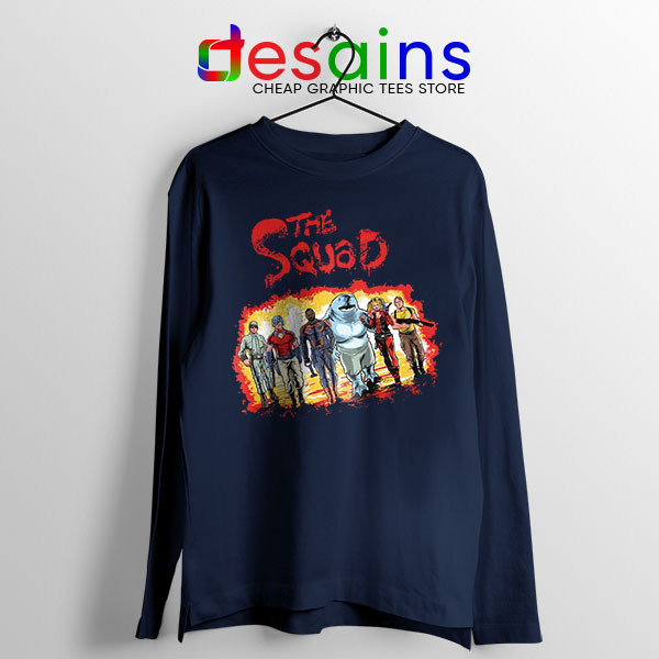 The New Suicide Squad Navy Long Sleeve Tee DC Comics