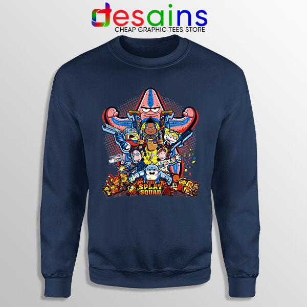 The Splat Suicide Squad Navy Sweatshirt Nicksplat Shows
