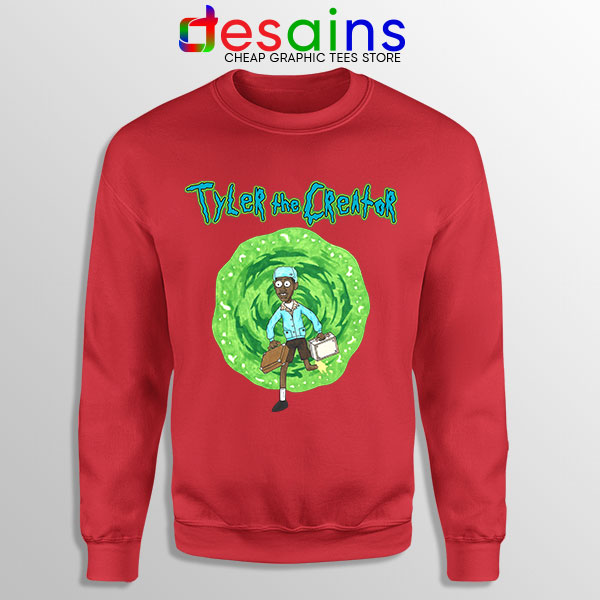 Tyler Creator Rick Morty Red Sweatshirt Rapper Cartoon