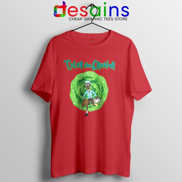 Tyler Creator Rick Morty Red T Shirt Rapper Cartoon