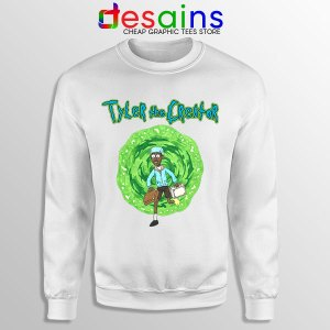Tyler Creator Rick Morty White Sweatshirt Rapper Cartoon