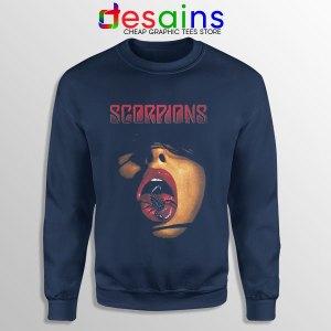 Vintage Scorpions Merch Navy Sweatshirt Rock Band