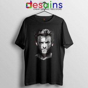 X Men Wolverine Art Black T Shirt Hugh Jackman