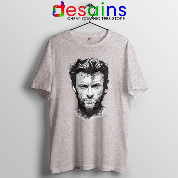 X Men Wolverine Art Sport Grey T Shirt Hugh Jackman
