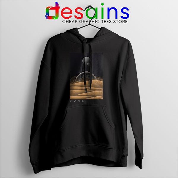 Arrakis Dune Desert Art Black Hoodie Planet Deserts