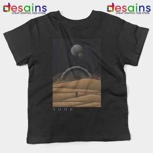 Arrakis Dune Desert Art Black Kids Tee Planet Deserts
