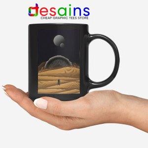 Arrakis Dune Desert Art Black Mug Planet Deserts