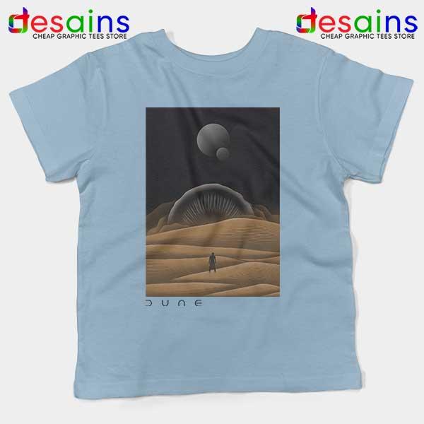 Arrakis Dune Desert Art Light Blue Kids Tee Planet Deserts
