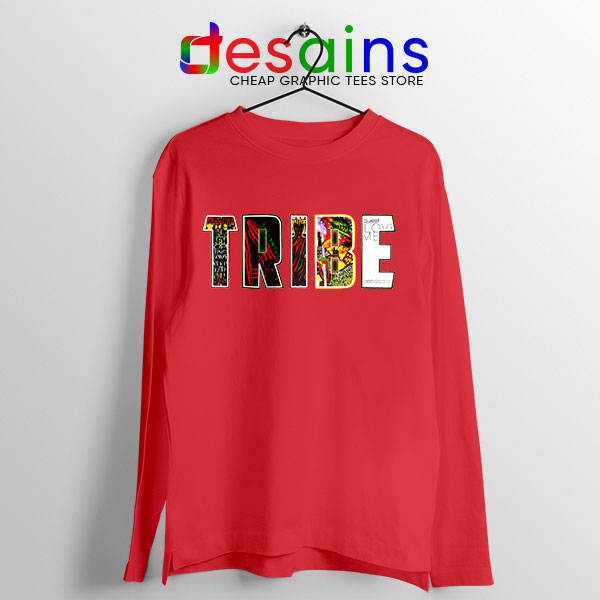 Best Tribe Called Quest Merch Red Long Sleeve Tee Beat Atcq