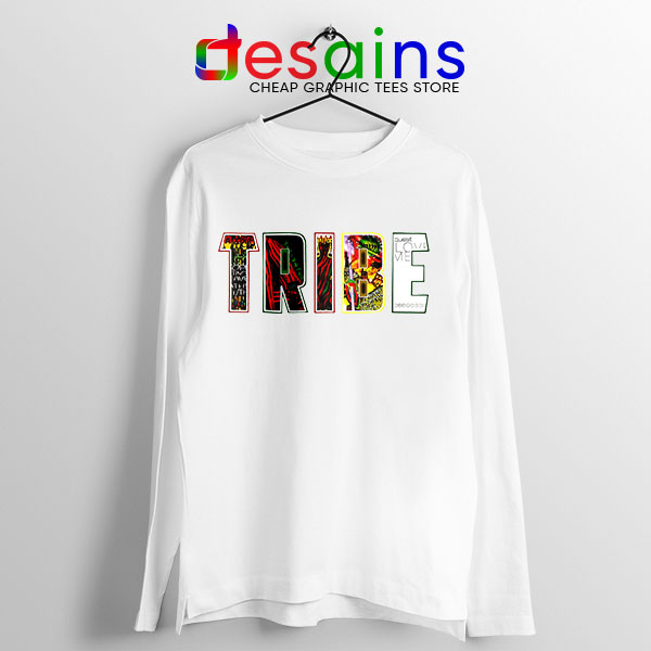 Best Tribe Called Quest Merch White Long Sleeve Tee Beat Atcq