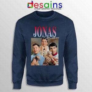 Buy Jonas Brothers Merch Retro Navy Sweatshirt Jobros