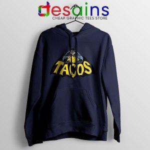 Buy Tacos Taco Bell Batman Navy Hoodie DC Comics Funny