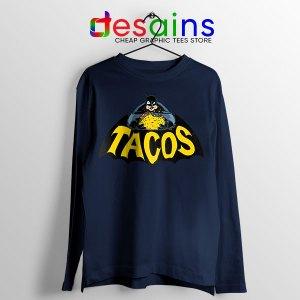 Buy Tacos Taco Bell Batman Navy Long Sleeve Tee DC Comics