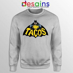 Buy Tacos Taco Bell Batman Sport Grey Sweatshirt DC Comics