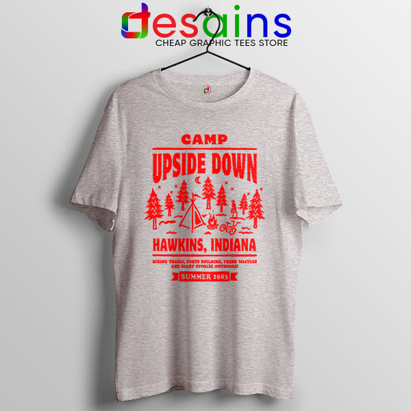 Camp Upside Down Hawkins Tshirt Stranger Things