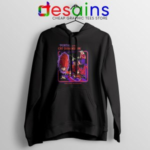 Cat Dimension Retro Hoodie Funny Meow