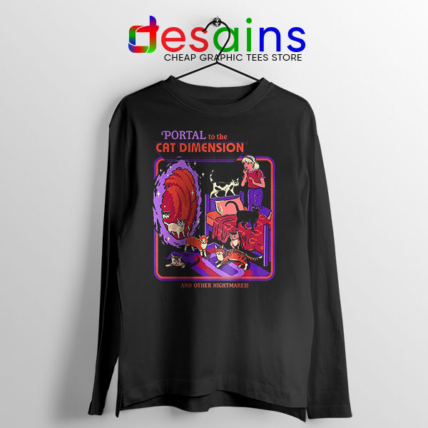 Cat Dimension Retro Long Sleeve Tee Funny Meow