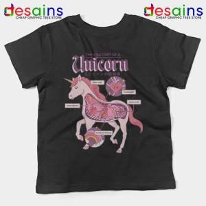Cute Unicorn Anatomy Black Kids Tee Funny Pony