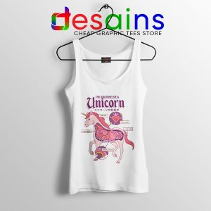 Cute Unicorn Anatomy Tank Top Funny Pony