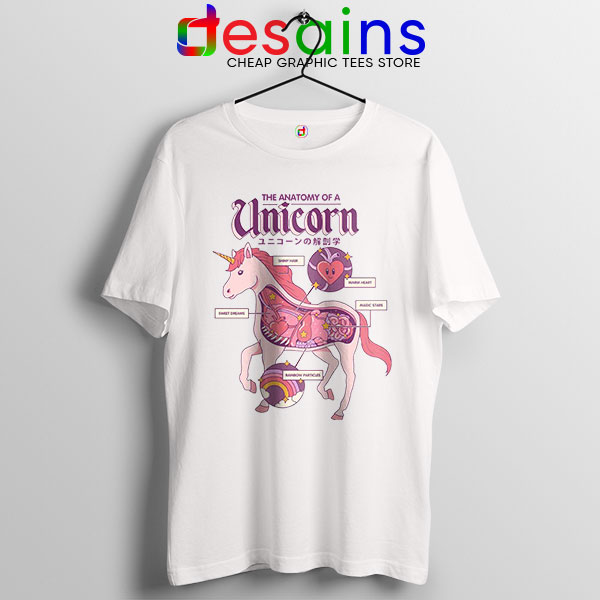 Cute Unicorn Anatomy Tshirt Funny Pony